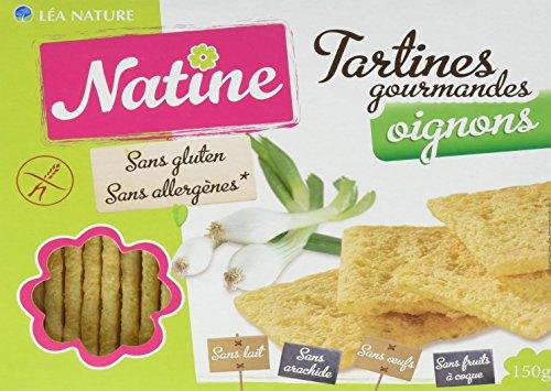 Natine Tartines Oignon sans Allergènes 150 g - Lot de 3