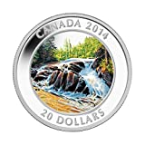 Fluss Rapids Algonquin (Provincial Park C $20Silber Medaille–Kanada 2014