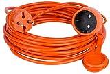 Cable de extensión alargador de cable Jardín Naranja 10152025304050m
