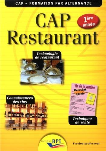 CAP Restaurant 1ère année - prof.