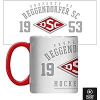 """DSC """"DSC Hockeyteam"""" Keramiktasse, Weiß/Rot"""