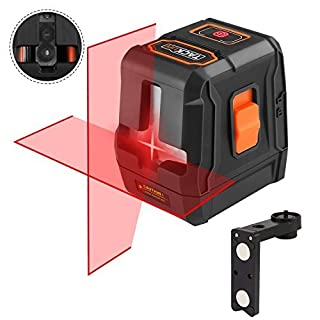 Laser Level, Tacklife SC-L07 15M 3-Way Self Levelling Laser, Line Laser with 2 Laser Diodes,2 Work Modes and Magnetic Base (Canvas Carry Case and Batteries Included)