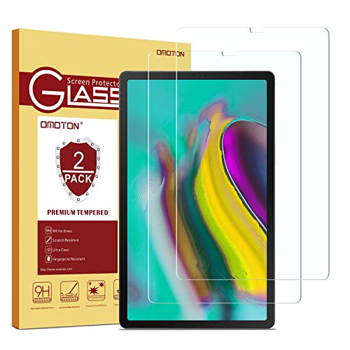OMOTON [2 Stück Panzerglas Schutzfolie für Samsung Galaxy Tab S5e T720/T725,10.5 Zoll Displayschutzglas,9H Härte, Anti-Kratzer, Anti-Öl, Anti-Bläschen,2.5D