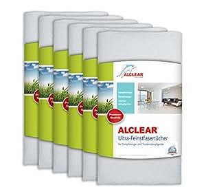 ALCLEAR 955040 Premium Ultra-Microfasertücher für Dampfreiniger von Kärcher, Vapor-Star 50x40 cm, weiß, Bodentuch Tuchset ,6er Set