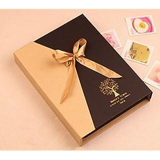 DIY Photo Album,Alisabler Memory Record Wedding Photo Album Book South Korea Original Manual Paste Baby Couple Photo Album Holder Photo