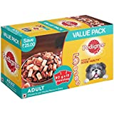 Pedigree Adult Wet Dog Food, Chicken & Liver Chunks in Gravy, 15 Pouches (15 x 80g)