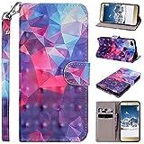 Amcor Love Cover Huawei P8Lite 2017Custodia Flip Portafoglio, Custodia in Pelle Premium Flip Case Magnetica Borsa Custodia Protettiva con Carte di Credito e Cinturino Stand Supporto