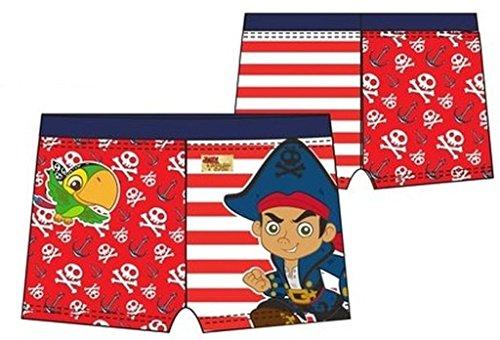 Disney Jake und die Nimmerlans Piraten Badehose Rot 116