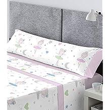CATOTEX - Juego sábanas infantil BALLARINA Catotex. Cama de 90 cm. Color Rosa -