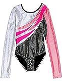 Justaucorps Manche Longue Gymnastique pour Filles (Rose, 4 - 6 Ans)...