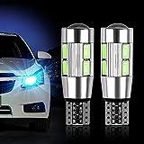 FORNORM SMD 5630 168 194 T10 Lampadina LED Auto LED Canbus W5W, Lampadine Cruscotto Auto per Interni Auto, Luce Blu Ghiaccio, 12V, Confezione da 2