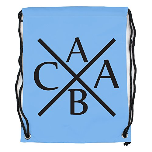 ACAB style Symbol Motiv auf Gymbag, Turnbeutel, Sportbeutel, stylisches Modeaccessoire, Tasche, Unisex Rucksack, viele Sprüche und Designs