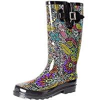 SheSole Womens Ladies Wellies Rain Wellington Boots Waterproof Rubber Festival