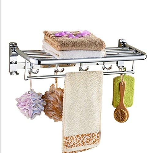 ZHANG Handtuchhalter Wand Hotel Eisen Regal Küchenhandtuchhalter (Größe: 60 * 25 * 10)
