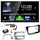 Kenwood DMX-7017DABS Apple CarPlay Android Auto Digitalradio Bluetooth Freisprecheinrichtung USB MP3 Autoradio Moniceiver Touchscreen Einbauset für Hyundai i40 VF
