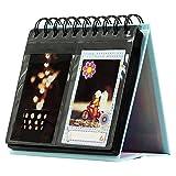 Forusky de 3 pulgadas Calendario de escritorio Álbum de fotos de Instax Mini 8 8+ 9 70 7s 90 25 26 50s, LOMO, cámara Sofort - Blue