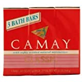 -Camay Classic Moisturizing Soap Bars, 3 bars 4.0 oz each, Total of 18 Bath Bars by Camay