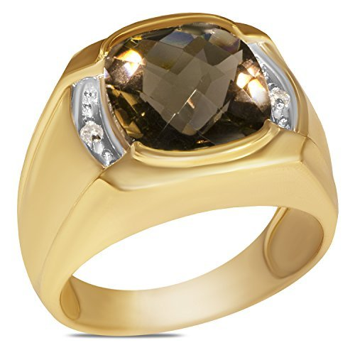 diamond-04ct-diamond-mens-ring-with-smokey-quartz-in-10k-yellow-gold-with-open-back-by-nissoni-jewel