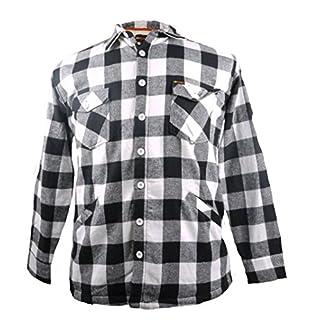 KAMRO Gefütterte Holzfäller- Hemdjacke in Übergrößen bis 10XL, weiß, Größe:8XL