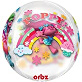 "Amscan International 3465201 15-Inch ""Trolls Clear Orbz Balloons"" Balloon"