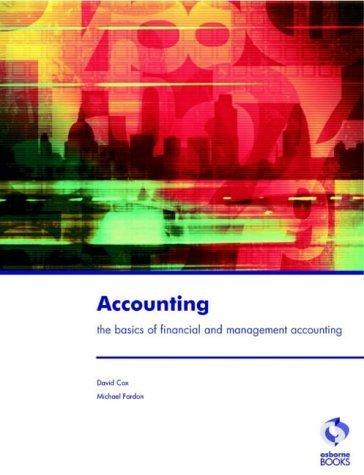 Accounting by Fardon, Michael, Cox, David (1998) Paperback
