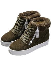 QVRGE Las Señoras De Otoño E Invierno Botas De Nieve Cálida Zapatos Gruesos Con Botas