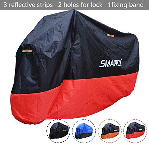 SMARCY Housse de Protection pour Moto Rouge et...