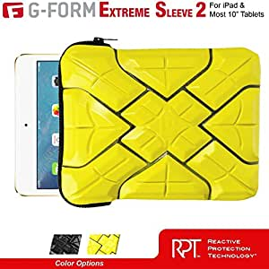 G-Form EXTREME-SLEEVE 2 Ruggedized Protective Case for most 10-inch iPad & Tablets [Yellow-Black]