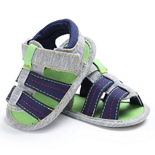 Igemy 1Paar Neugeboren Baby Jungen Kleinkind Leinwand Säugling Kids Soft Sole Krippe Kleinkind Sandalen Schuhe Blau VreKli0cZv