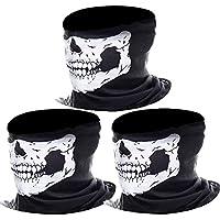 Pasamontañas de Calavera Sin Costura Máscara Facial de Tubo de Poliéster (3 Paquetes)
