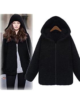 [Sponsorizzato]Cappotto Donna Invernali, Beautytop Autunno Giacche e cappotti da donna Manica Lunga Cappotto con cappuccio
