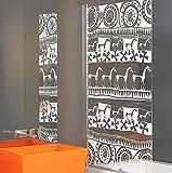Duschwand, 1400 x 800 mm, 6mm Sicherheitsglas Glas, Keramik gedruckt, Duschabtrennung für Badewanne