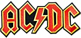 Gelb Bordüre AC/DC Australian Rock Heavy Metal Band Aka Rock und Roll band  Stickerei Hohe Qualität Eisen auf Sew auf Patch Abzeichen für Kleidung Jacken T-Shirts Mäntel Taschen Hüte Geldbeutel