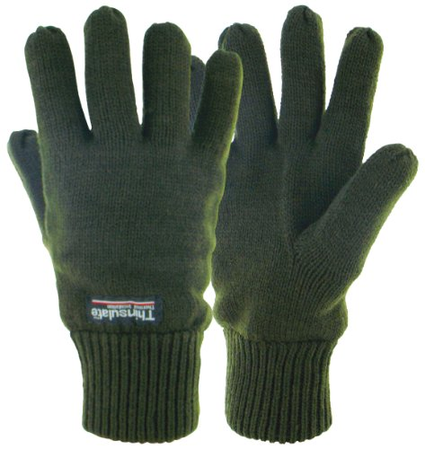 Highlander - Guanti imbottiti termici Drayton, verde (verde oliva), large