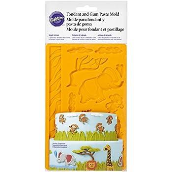 Wilton 0262040 Moule pour Fondant et Pastillage Jungle 26,7 x 12,95 x 1,07 cm