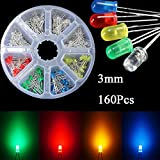 Bluelover 160 Pcs 3 Mm Led Diodo