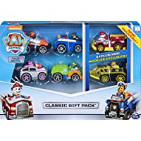 Paw Patrol, True Metal Classic Gift Pack of 6 Collectible DIE-CAST Vehicles, 1: 55 Scale, Multicolor