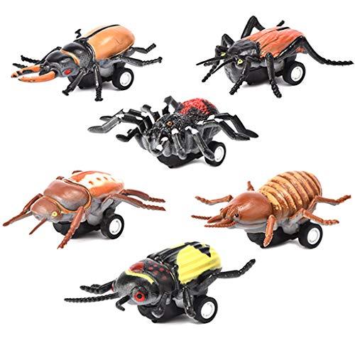 OHQ 6pcs Mini VehíCulo Insect Pull Pull Cars con Llanta De Rueda Regalos Creativos para NiñOs