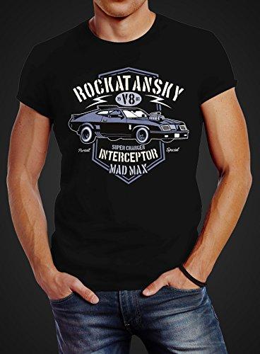 Herren T-Shirt Rockatansky V8 Interceptor Car Slim Fit Neverless®  Rockatansky schwarz ...