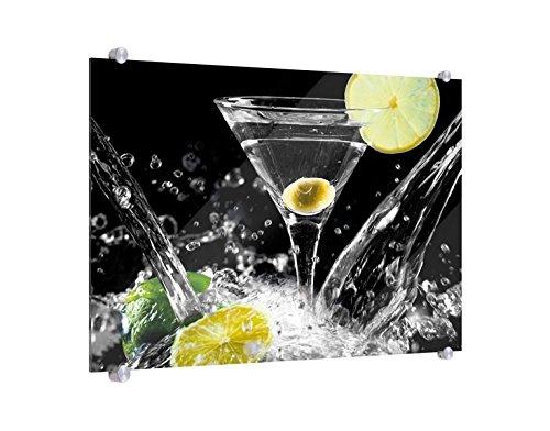 Spritzschutz Spritziger Martini B x H: 60cm x 40cm (erhältlich in 2 Größen)