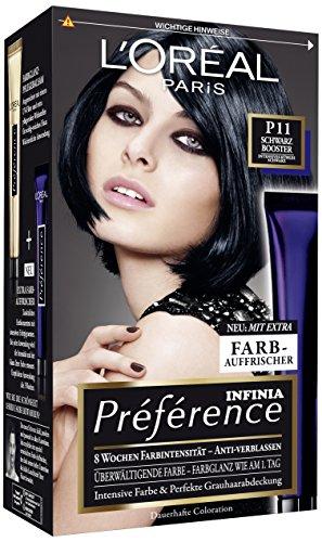 L\'Oréal Paris Préférence Booster P11 Intensives kühles Schwarz, 3er Pack (3 x 1 Stück)
