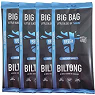 BEEFit Snacks 1kg (4x250g) Biltong, High Protein, Healthy, Low Sugar, Carb Killer Snack - Not Beef Jerky (Traditional)
