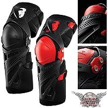Motocross Rodilleras Schoner Protektor Thor Force XP Negro Rojo