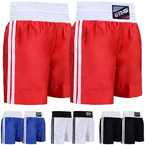 Farabi Pro Boxing Shorts for Boxing Training Punching, Sparring Fitness Gym Clothing Fairtex jiu Jitsu MMA Muay Thai Kickboxing Equipment Trunks (Red, Medium)