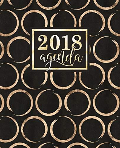 Agenda: 2018 Agenda semana vista español : brillantes círculos dorados sobre fondo negro : 190 x 235 mm, 160 g/m² (Calendarios, agendas y organizadores personales, Band 11)