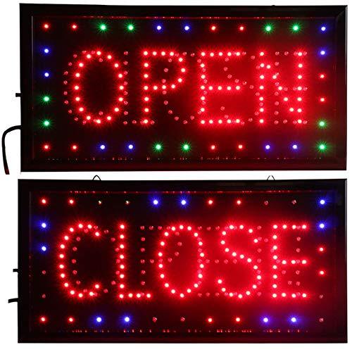 CHENXI offen und geschlossen 2in 1LED Schild Store Neon Business Bar Shop geschlossen Light On/Off-Schalter 48x 25cm Modern 48 X 25 CM Open&close -