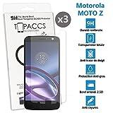 Motorola Moto Z - [Lot de 3] Véritable vitre de protection écran en Verre trempé ultra résistante - Protection écranv