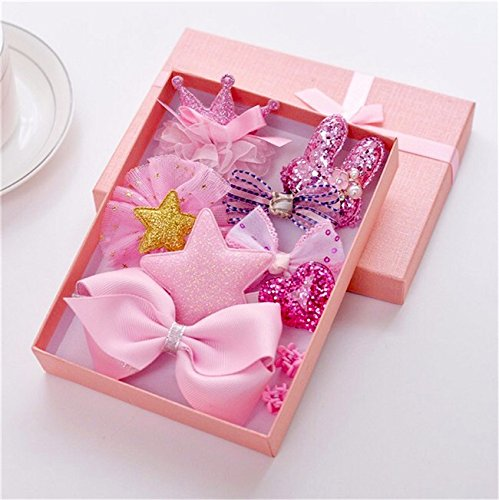 DiwaliBhaiya-Dooj-special-Cuty-Kraft-Lovely-Baby-Girl-10-pcs-hair-clip-set-with-box-pink