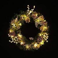 BGHFXS Decorado guirnaldas Decorada con Adornos de Navidad, guirnaldas, PVC Verde, casa Shopping malls, Decoraciones del Dia de Fiesta.
