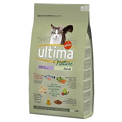 Ultima Nature - Croquettes au Saumon pour Chat Stérilisé - 1,25Kg